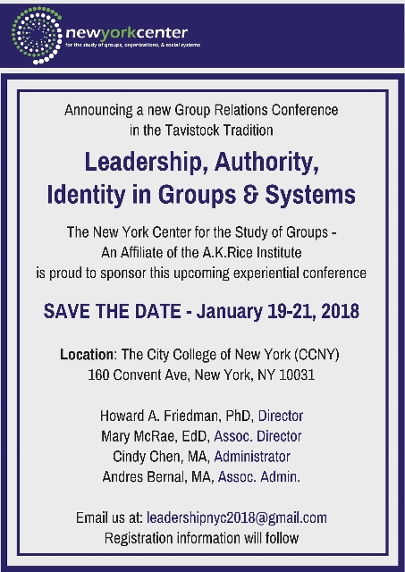 NYC Group Relations Conference